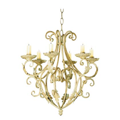 Roxy Lighting Concerto 6-Light Cobalt Blue Chandelier
